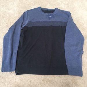 Croft and Barrow - blue color block sweater sz L